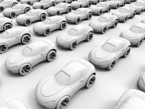 3D clay cars background Royalty Free Stock Photography