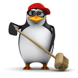 3d Cleaner penguin Stock Photography