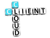 3D Client Cloud Crossword Stock Photos