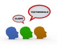 3d client testimonials heads Stock Image