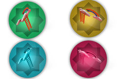 3d climb ladder icon Royalty Free Stock Images