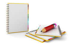 3d clipboard with blank pages Royalty Free Stock Image