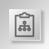 3D clipboard diagram icon Business Concept Royalty Free Stock Photography