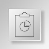 3D clipboard pie chart icon Business Concept. 3D Symbol Gray Square clipboard pie chart icon Business Concept Royalty Free Stock Photos
