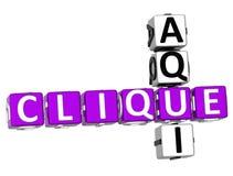 3D Clique Aqui Crossword. On white background Stock Photo