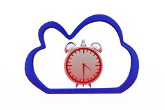 3d  clock cloud Royalty Free Stock Photography