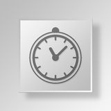 3D clock icon Business Concept Stock Images