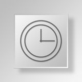3D clock icon Business Concept Royalty Free Stock Photos