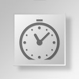 3D clock icon Business Concept Royalty Free Stock Images