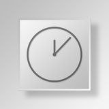 3D clock icon Business Concept Royalty Free Stock Photography