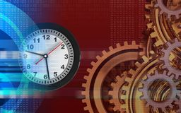 3d clock Royalty Free Stock Image