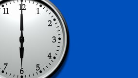 3D Clock Ticking Fast (HD Loop). Super sharp 3D render of a wall clock ticking. Clock is ticking faster than one tick per second. HD 1080. Space for text on vector illustration