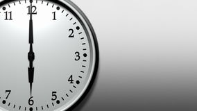 3D Clock Ticking Fast (HD Loop). Super sharp 3D render of a wall clock ticking. Clock is ticking faster than one tick per second. HD 1080. Space for text on stock illustration