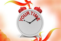 3d clock your time  illustration Royalty Free Stock Photo