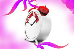 3d clock your time  illustration Royalty Free Stock Image
