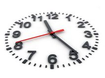 3d clockface Fotografia Royalty Free