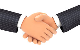 3d close up of business handshake. Illustration with isolated white background Stock Photos