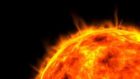3d close-up geeft van zon terug royalty-vrije illustratie