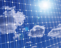 3d close up of large solar panel Royalty Free Stock Photography