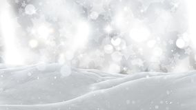 3D close up of snow on a silver starry background. 3D render of a close up of snow on a silver starry background Stock Image