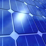 3d Close up of solar cells Stock Image