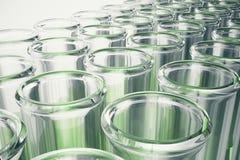 3D close-up van de illustratiefles, laboratoriummateriaal Chemisch product voor geneeskunde Laboratoriumonderzoek Concept wetensc Royalty-vrije Stock Afbeeldingen