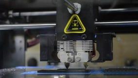 3D close-up van het printerwerk stock videobeelden