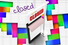 3d closed mobile phone Stock Photography