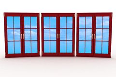 3d closed plastic windows Royalty Free Stock Photos