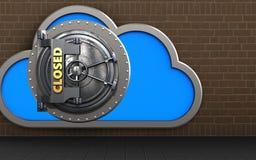 3d closed vault door closed vault door Stock Photography