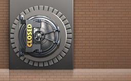3d closed vault door closed vault door Stock Image