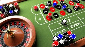 3D closeup of casino table Stock Image