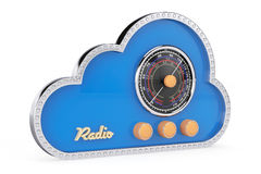 3d Cloud as Vintage Radio. On a white background Royalty Free Stock Photos