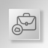 3D cloud briefcase icon Business Concept Stock Photography