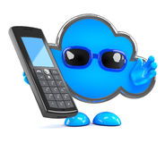 3d Cloud chats on a cellphone Stock Image