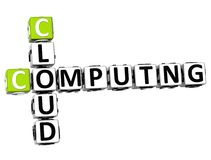 3D Cloud Computing Crossword. On white background Stock Images