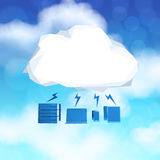 3d Cloud Computing diagram icon. On blue sky background as concept Royalty Free Stock Image