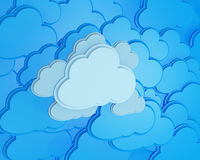 Cloud computing icon background Royalty Free Stock Image