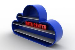 3d cloud data center Royalty Free Stock Image