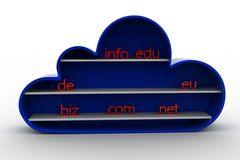 3d cloud domain center Royalty Free Stock Photography