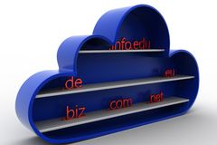 3d cloud domain center Royalty Free Stock Images