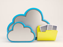 3D Cloud Drive Icon. 3D Render of Cloud Drive Icon Royalty Free Stock Photos