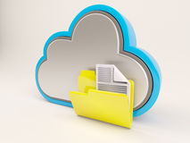 3D Cloud Drive Icon Stock Image
