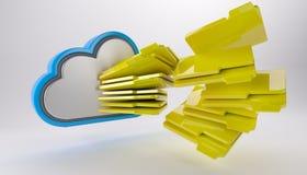 3D Cloud Drive Icon Stock Images
