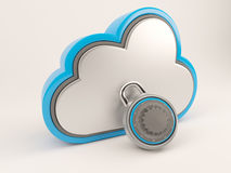 3D Cloud Drive Icon. 3D Render of Cloud Drive Icon Royalty Free Stock Photo