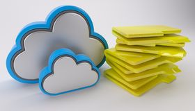 3D Cloud Drive Icon Royalty Free Stock Photo