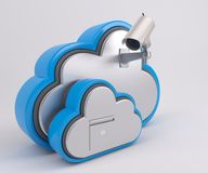 3D Cloud Drive Icon. 3D Render of Cloud Drive Icon Stock Photos