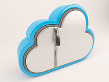 3D Cloud Drive Icon. 3D Render of Cloud Drive Icon Royalty Free Stock Image
