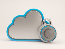 3D Cloud Drive Icon. 3D Render of Cloud Drive Icon Stock Image
