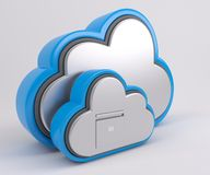 3D Cloud Drive Icon. 3D Render of Cloud Drive Icon Royalty Free Stock Photography